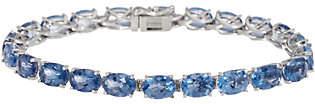 """QVC Color Change Fluorite 6-3/4"""" Bracelet, 19.25cttw, Sterling"""