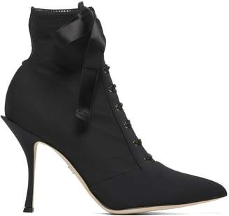 Dolce & Gabbana Lace High Heel Ankle Boots