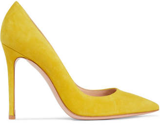 Gianvito Rossi 105 Suede Pumps - Yellow