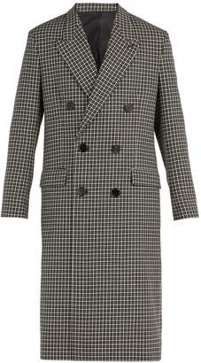Ami Houndstooth double-breasted wool-blend overcoat