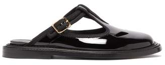 Burberry Alannis Patent Leather Dolly Mules - Womens - Black