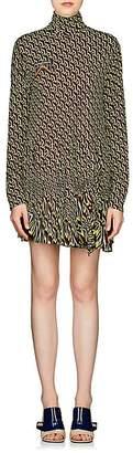 Prada Women's Geometric-Print Jersey Wrap Dress