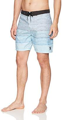 "Hurley Men's Apparel Men's Trailblaze Textured Striped 18"" Board Swim Short"