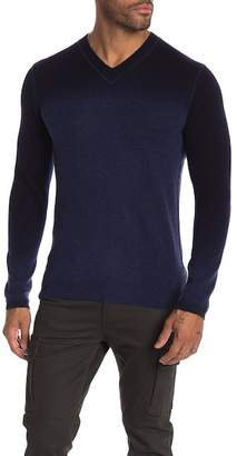 Autumn Cashmere V-Neck Dip Dye Cashmere Sweater