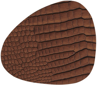 Croco Lind Dna LIND DNA Curve Table Mat - Cognac - Small