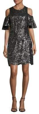 Vince Camuto Scallop Cold-Shoulder Dress