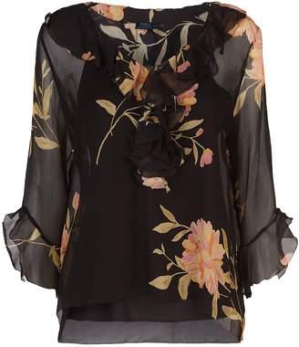 Polo Ralph Lauren Floral Silk Blouse