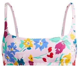 Araks Quinn Floral Print Bikini Top - Womens - Pink Multi