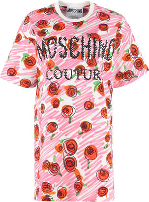 Moschino Printed Maxi T-shirt Dress