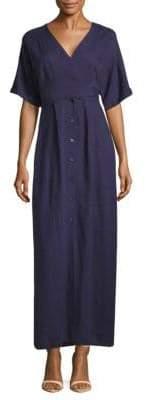 Saks Fifth Avenue BLACK Belted Wrap Dress