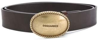 DSQUARED2 logo plaque belt