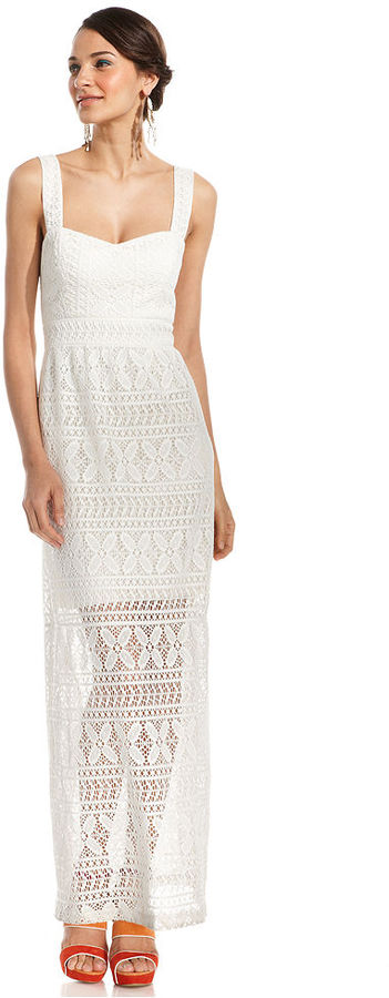 Betsey Johnson Dress, Sleeveless Crocheted-Lace Maxi