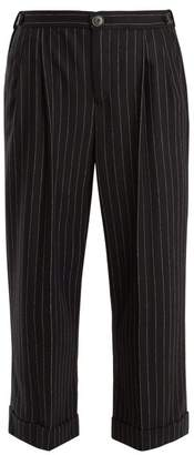 Masscob Pinstriped cropped wool-blend trousers