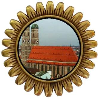 Munich GiftJewelryShop Ancient Style Gold-plated Travel frauenkirche Sunflower Pins Brooch