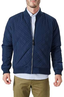7 Diamonds Arca Quilted Slim Fit Bomber Jacket