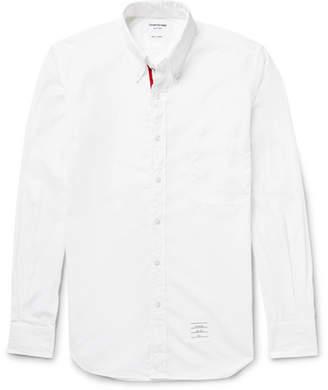 Thom Browne Slim-Fit Button-Down Collar Cotton-Poplin Shirt $435 thestylecure.com