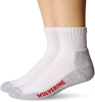 Wolverine Men's 2 Pack Steel Toe Cotton Quarter Sock