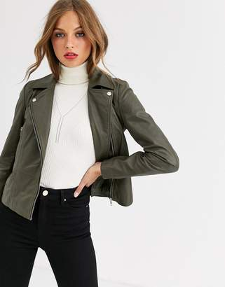 Y.A.S leather jacket in green