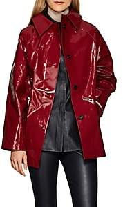 KASSL Women's Lacquered Cotton-Blend Trench Coat - Wine