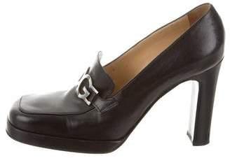 Dolce & Gabbana Leather Loafer Pumps