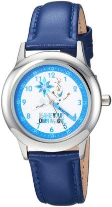 Disney Boy's 'Frozen Olaf' Quartz Stainless Steel Casual Watch, Color: (Model: WDS000194)