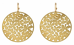 Kris Nations Gold Orchid Earrings