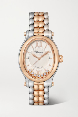 Chopard Happy Sport Oval Automatic 29mm 18-karat Rose Gold, Stainless Steel And Diamond Watch