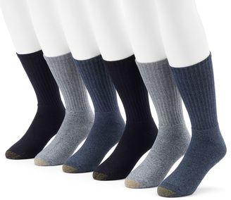 Men's GOLDTOE 6-Pack Harrington Crew Socks $22 thestylecure.com
