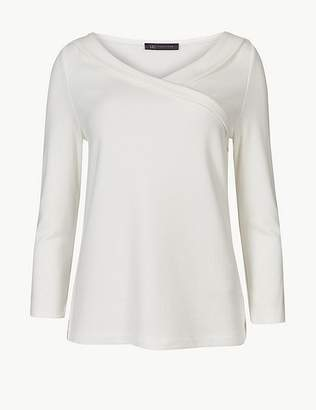 Marks and Spencer V-Neck 3/4 Sleeve T-Shirt