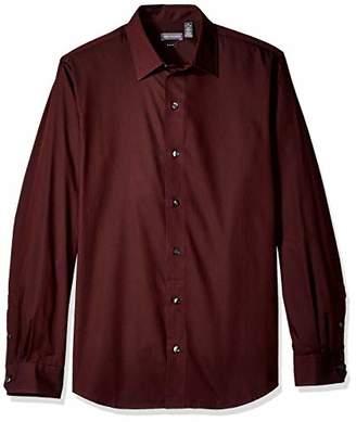 Van Heusen Men's Size Slim Fit Stripe Sateen Long Sleeve Button Down Shirt