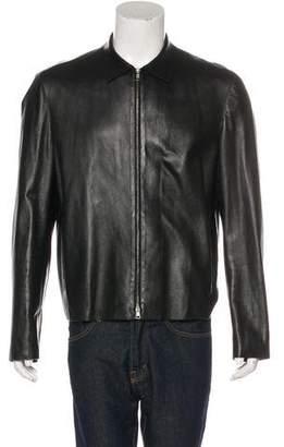 Neil Barrett Leather Zip Jacket