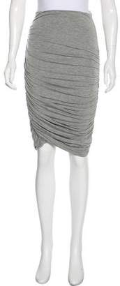 A.L.C. Knee-Length Ruched Skirt