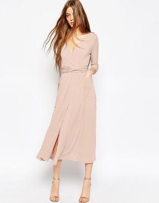 ASOS Crepe Wrap Midi Dress $58 thestylecure.com