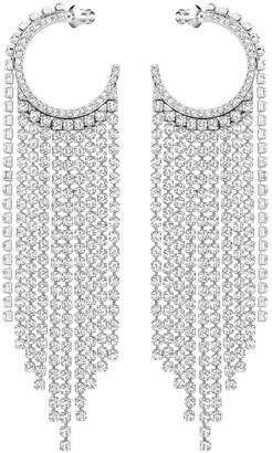 d10e13a27 Swarovski Crystal Chain Hoop Pierced Statement Earrings