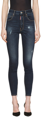 Dsquared2 Blue Distressed Twiggy Jeans $495 thestylecure.com