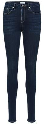 Selected Slfida Skinny Jeans, Dark Blue Denim