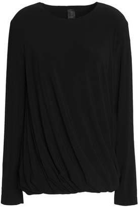 Norma Kamali Gathered Stretch-Jersey Top