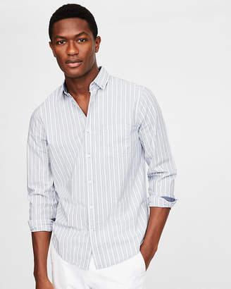 Express Classic Soft Wash Striped Shirt