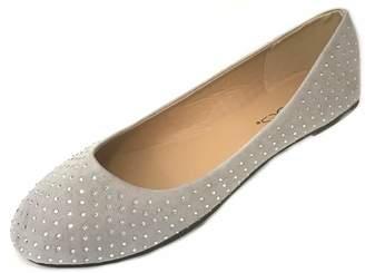 2dc08e930 Anig Shoes Womens Faux Suede Rhinestone Ballerina Ballet Flats Shoes 5  Colors (5 6
