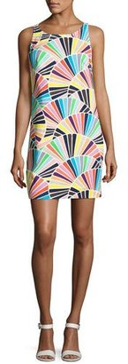 Trina Turk Cosme Sleeveless Geometric Shift Dress, Multicolor $248 thestylecure.com