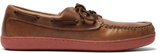 Quoddy Runabout Leather Boat Shoes - Mens - Brown