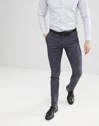 Selected Smart Pant In Skinny Fit Flecked Fabric