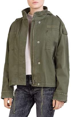 The Kooples Studded Army-Inspired Jacket