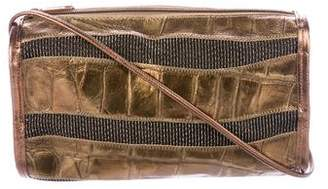Carlos Falchi Metallic Striped Crossbody Bag