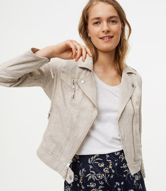 Linen Cotton Motorcycle Jacket $89.50 thestylecure.com