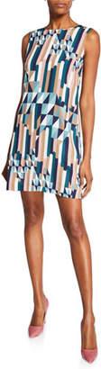 M Missoni Broken Stripe Sleeveless Mini Dress
