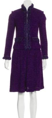 St. John Tweed Skirt Suit Purple Tweed Skirt Suit