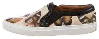 Givenchy Snakeskin-Trim Butterfly Sneakers