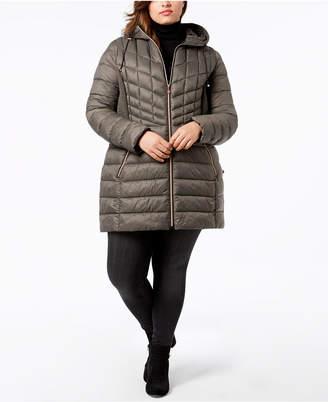 Bernardo Plus Size Packable Puffer Coat