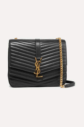 Saint Laurent Sulpice Medium Quilted Leather Shoulder Bag - Black